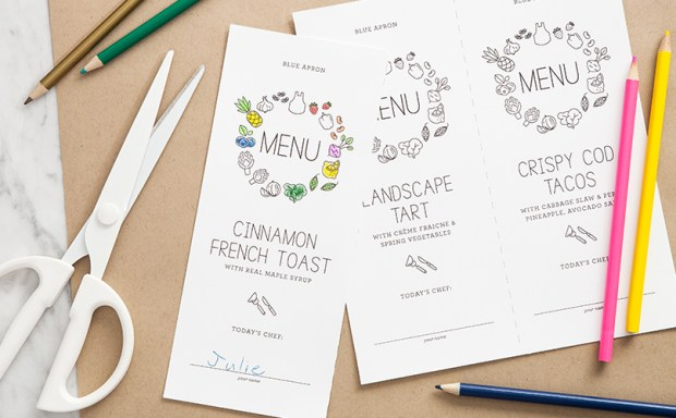 Mother's Day Menu Card