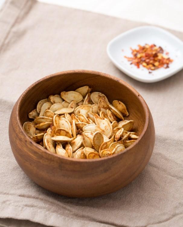 pumpkin seeds with spicy seasoning