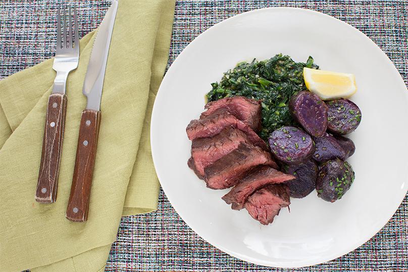 Hanger Steak with Pan Sauce