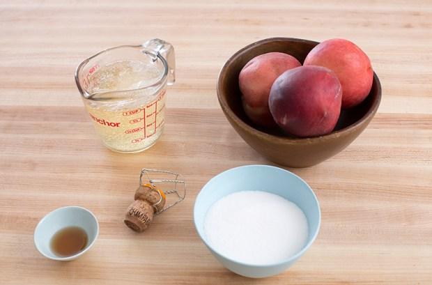 Peach & Champagne Granita   Blue Apron