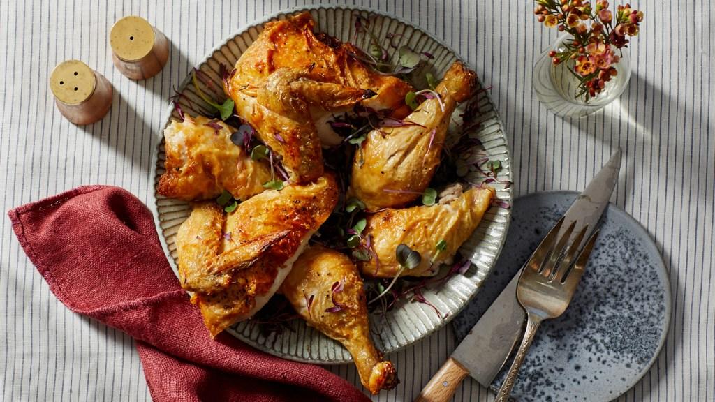 roasted chicken platter