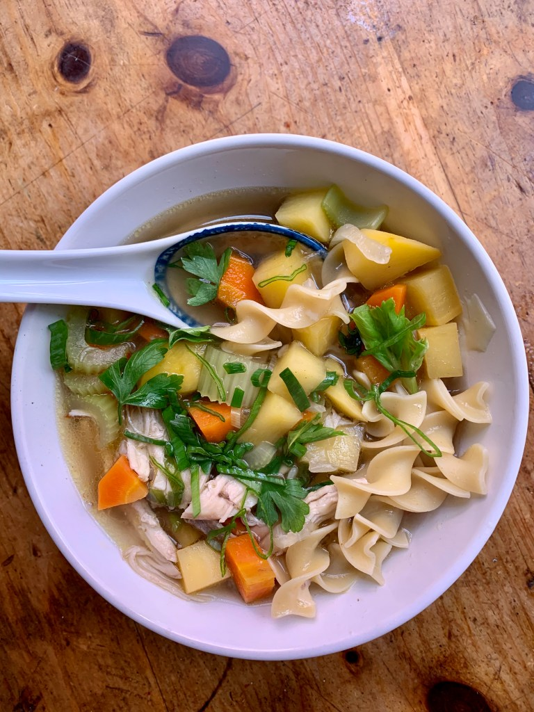 Finished chicken noodle soup