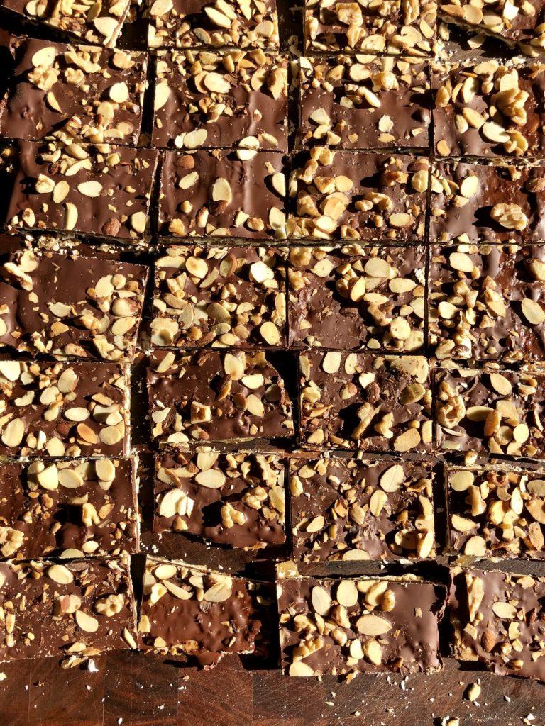 chocolate-covered matzo