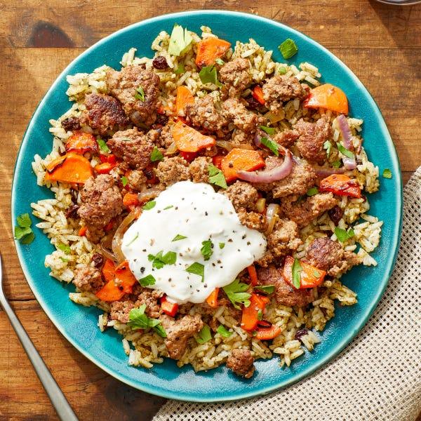 za-atar beef and carrots