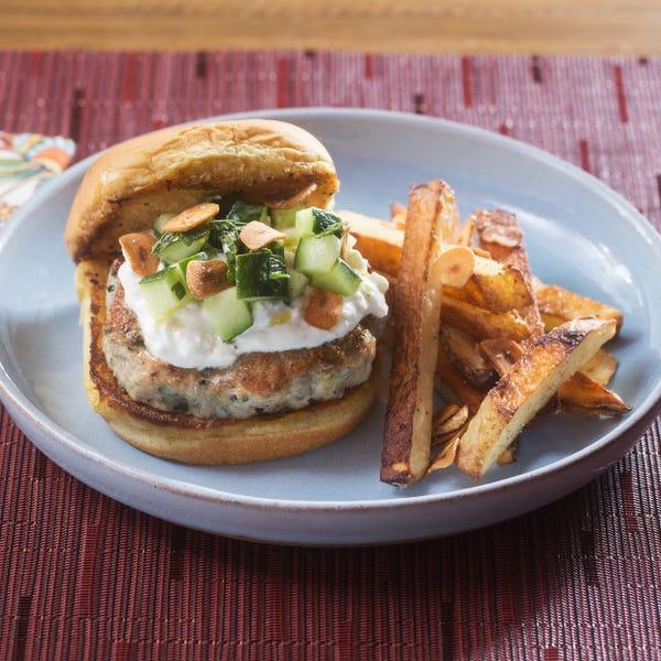 burgers prepared with za'atar