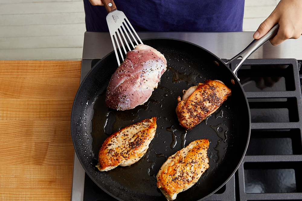 how to sear duck breast