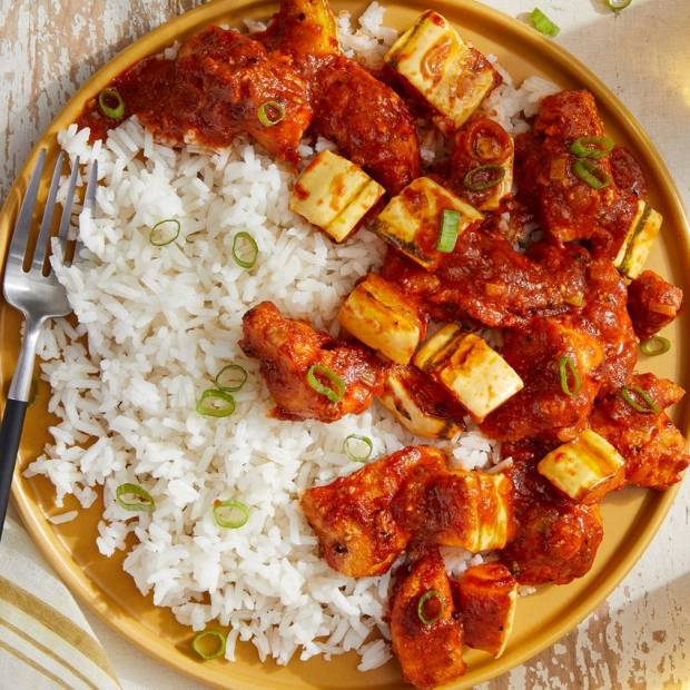 butter chicken and rice