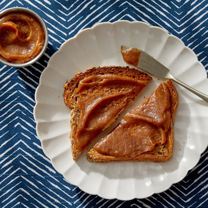 homemade pear butter on toast