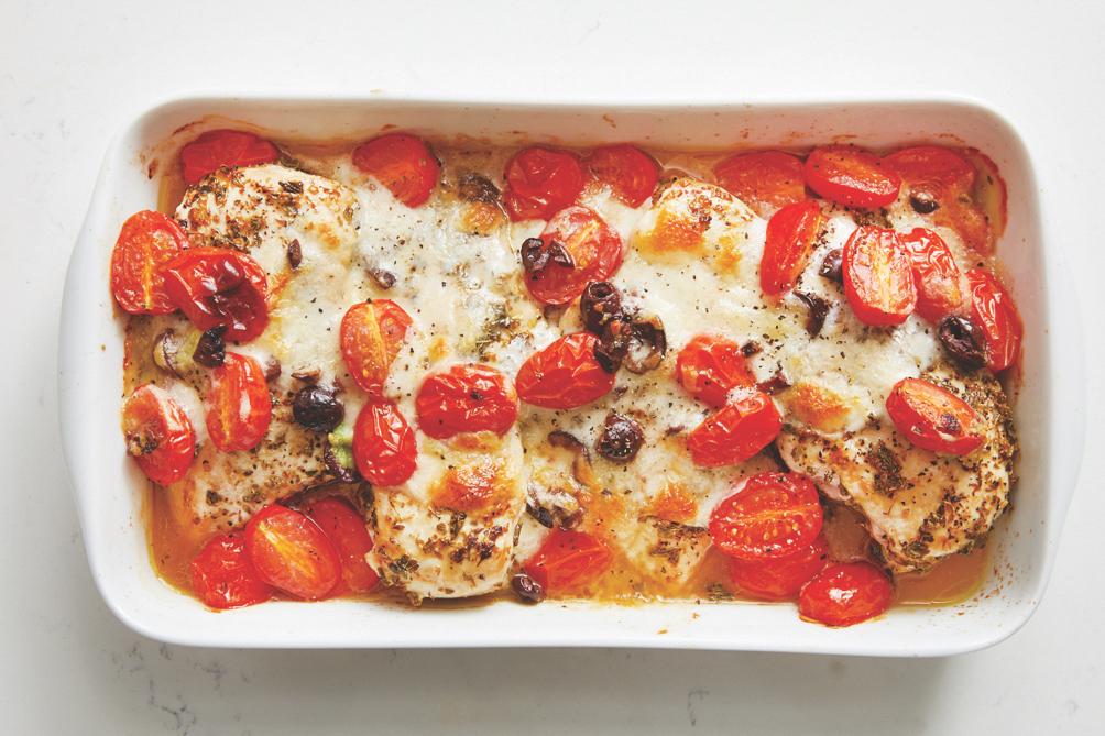 mozzarella and tomato baked chicken