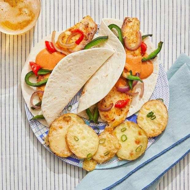 fish tacos with potatoes