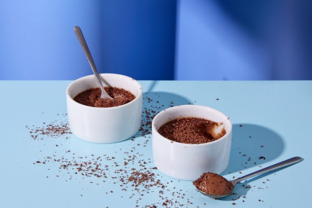 chocolate pot de creme red wine