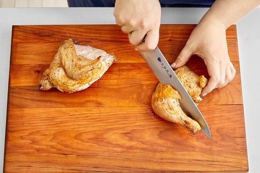 carve a half chicken