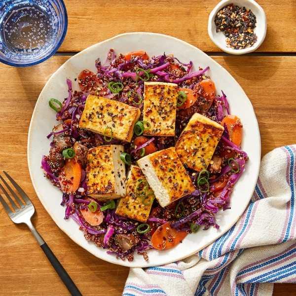 savory glazed tofu