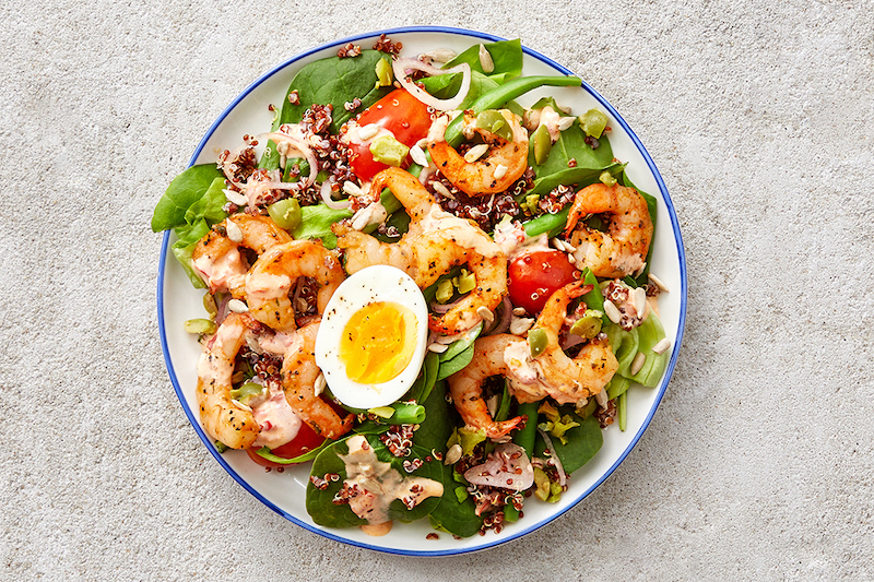 Low Carb Meal Delivery with Shrimp & Quinoa