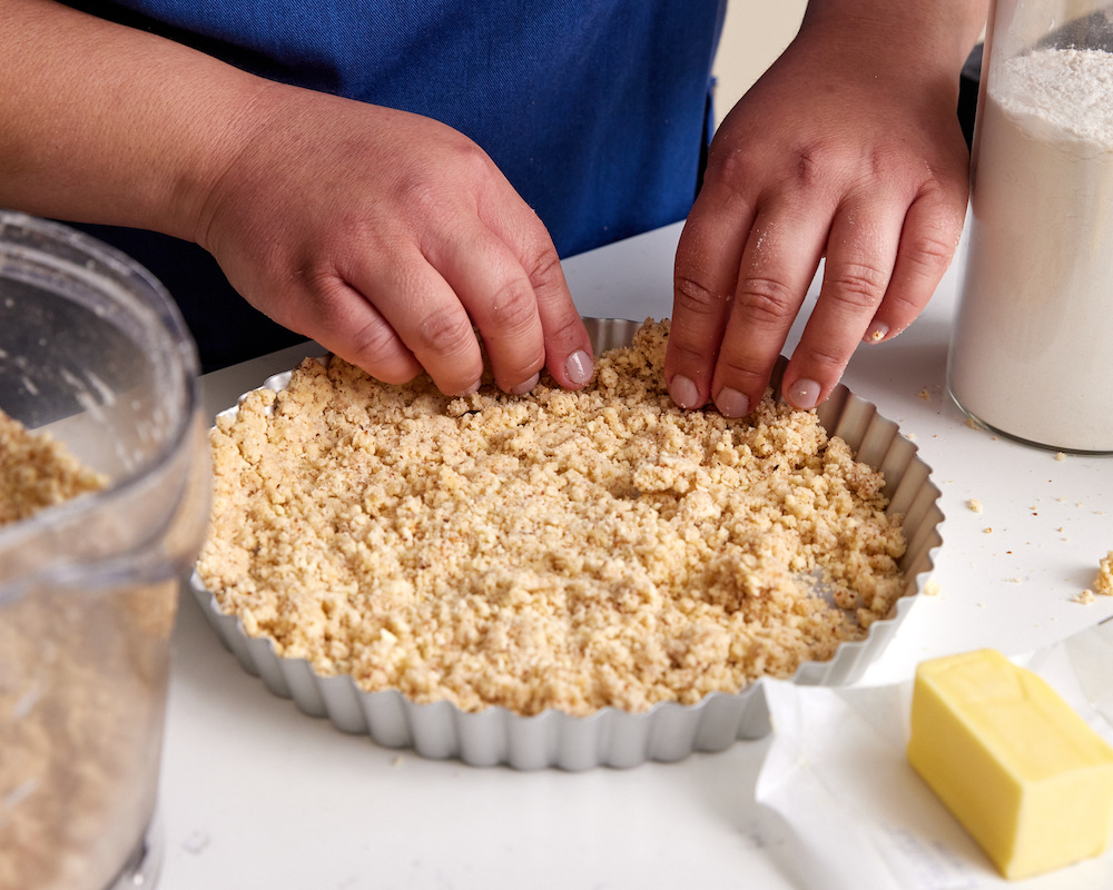 almond crust for meyer lemon tart