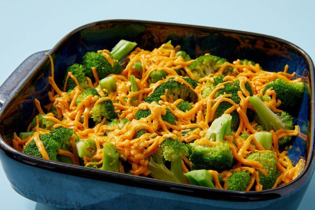 Daiya non-dairy cheeze and broccoli