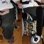 片麻痺者用車椅子膝パッド