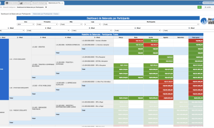 Bluesoft Intelligence – Dashboard Balancete por Participante