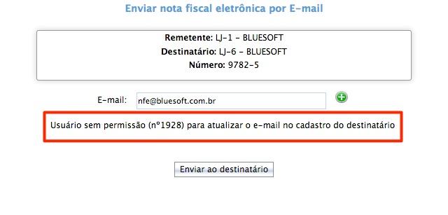 Enviar nota fiscal eletrônica por E-mail