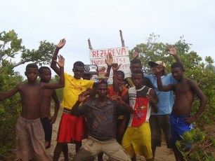 Celebrating the first mangrove reserve closure in the village of Lovobe