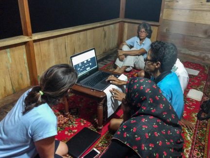 LINI organising their data with Blue Ventures' Abi Leadbeater