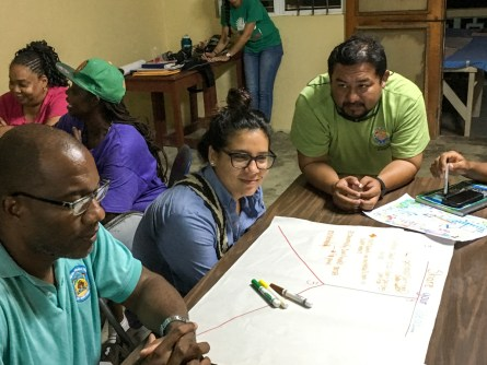 Consultation in Dangriga with the Belize Fisheries Dept.