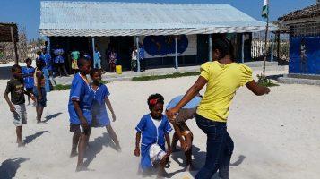 E-louise leading a Saturday School activity