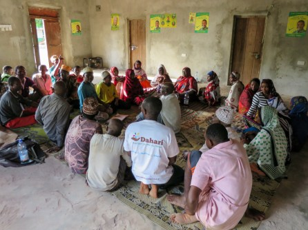 Shared experiences: the Zanzibari fishers chat with their Comorian visitors
