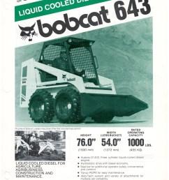 bobcat 643 spec sheet 1981  [ 1275 x 1650 Pixel ]