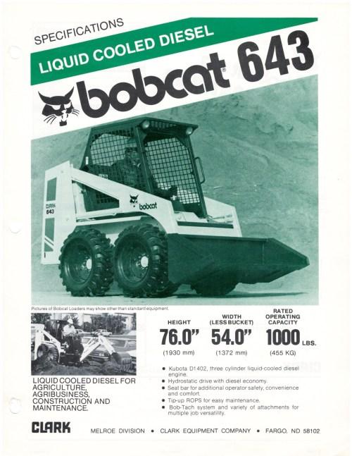 small resolution of bobcat 643 spec sheet 1981