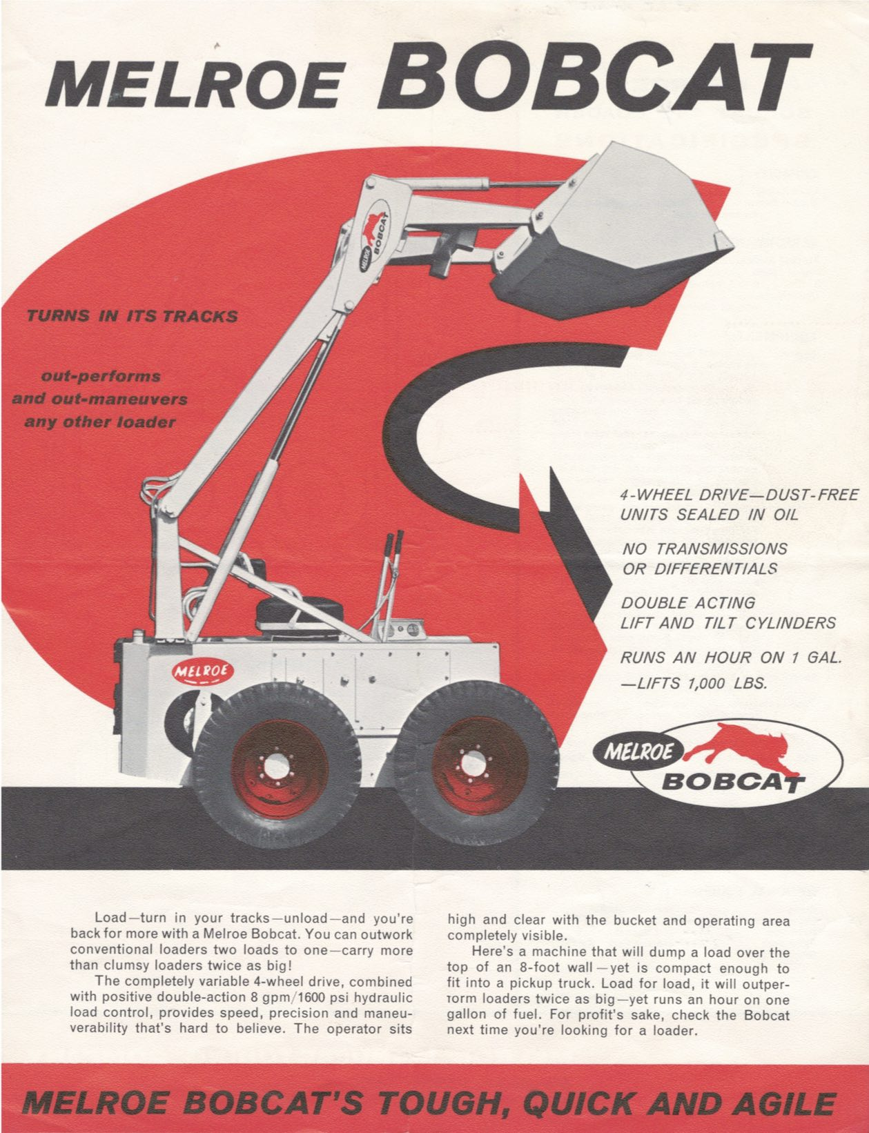 hight resolution of m440 was first bobcat loader in 1962 bobcat blog rh blog bobcat com bobcat 763 hydraulic
