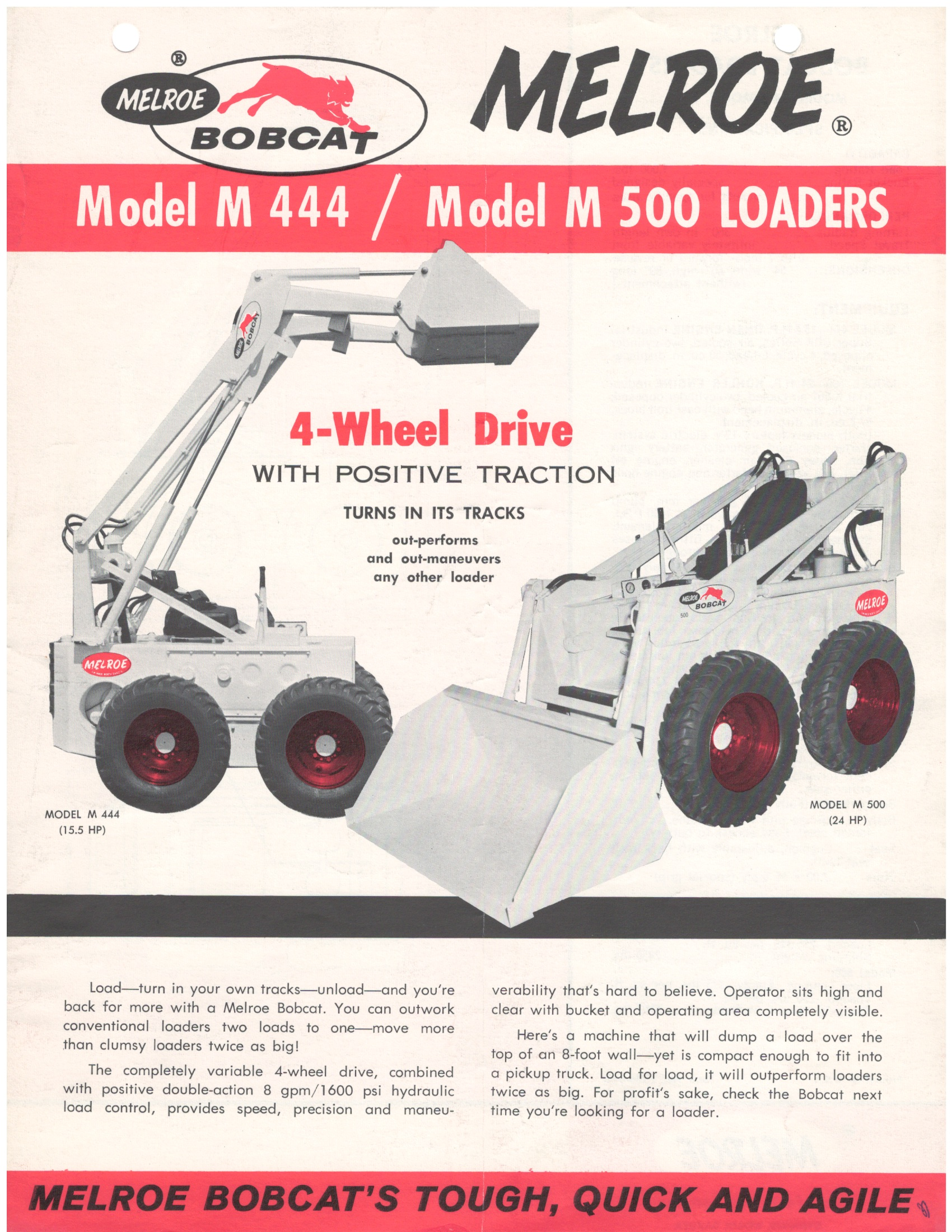 hight resolution of m440 was first bobcat loader in 1962 bobcat blog rh blog bobcat com bobcat 763 hydraulic system diagram schematic for bobcat 753 hydraulic hose