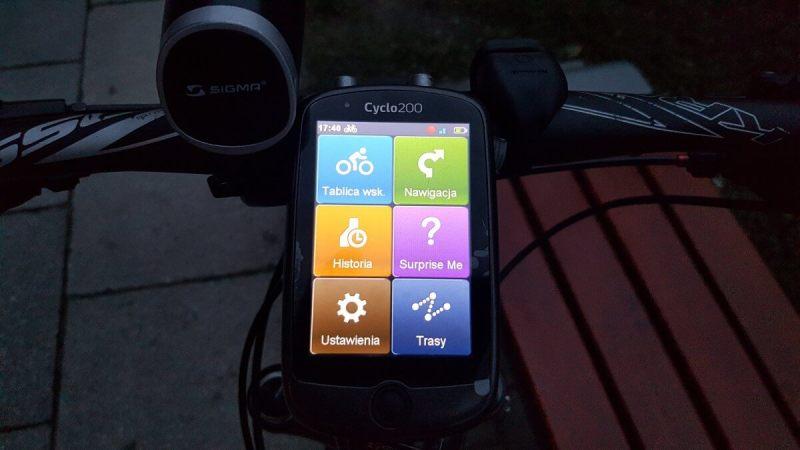 Mio Cyclo 200 - dashboard zpodswietleneim