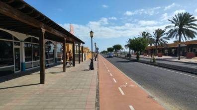 Fuertaventura - droga rowerowa w corralejo
