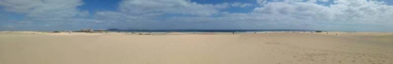 Fuertaventura - piaszczyste plaze panorama