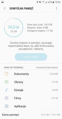 Samsung Galaxy S7 - domyslna pamiec