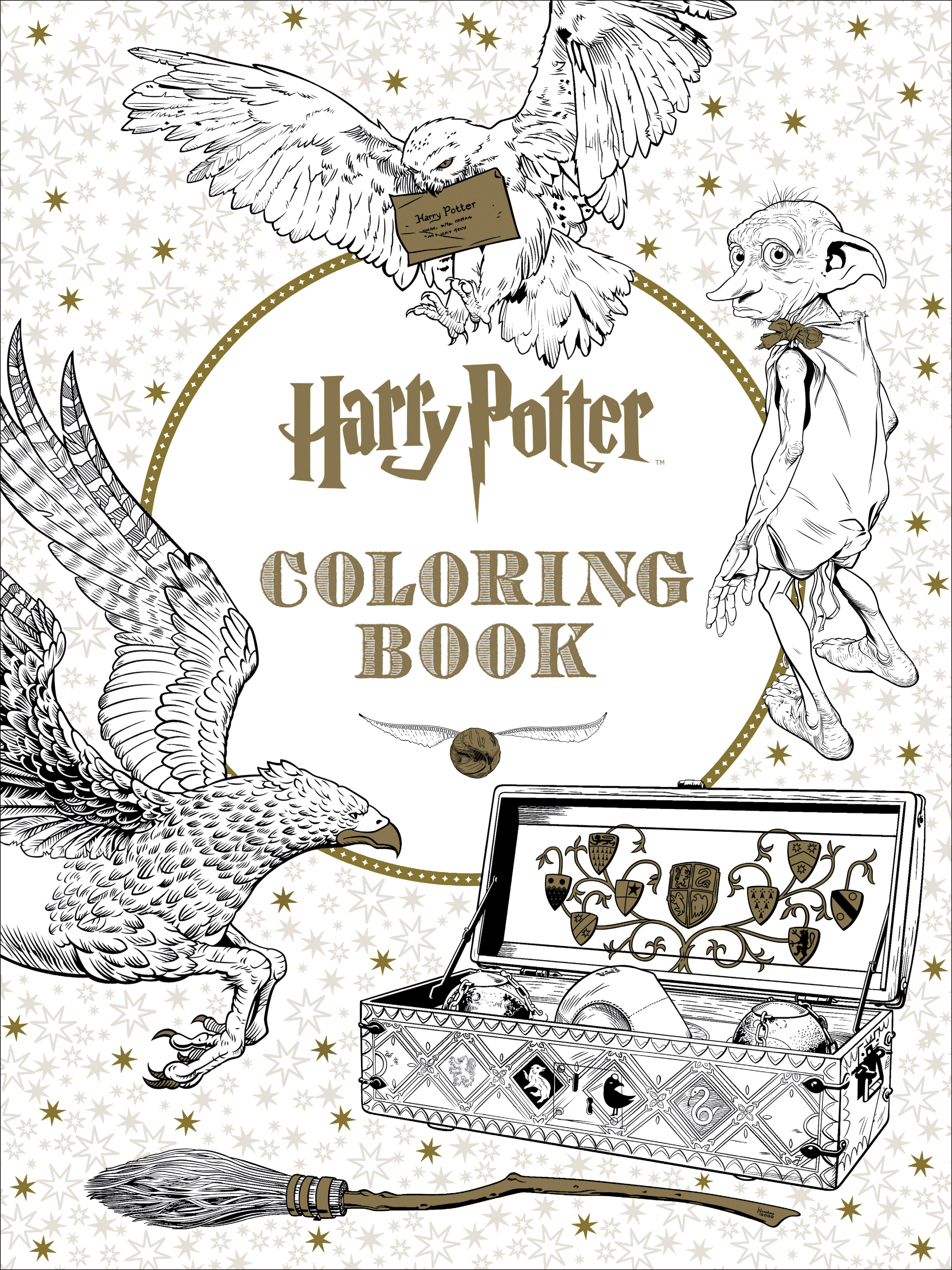 Harry Potter Characters And Places Coloring Book Walmart Muggle