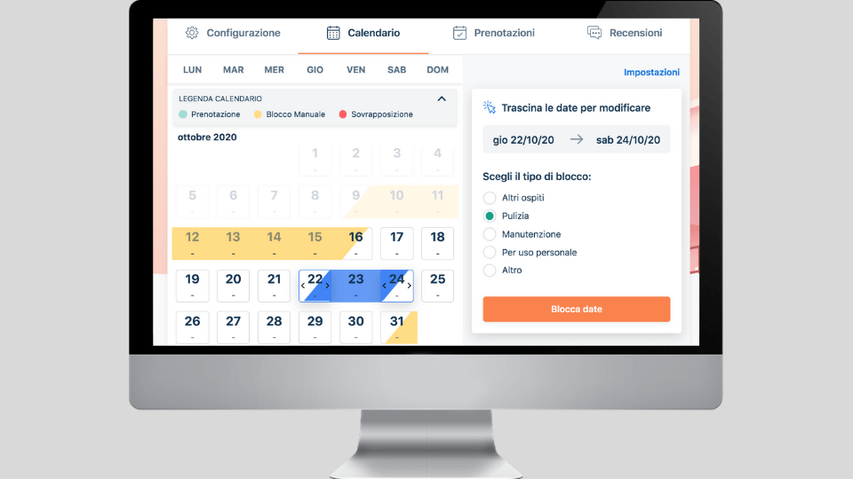 Come creare e modificare i blocchi manuali del calendario Bookiply