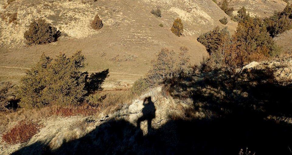 Karen Seginak takes photo of her own shadow