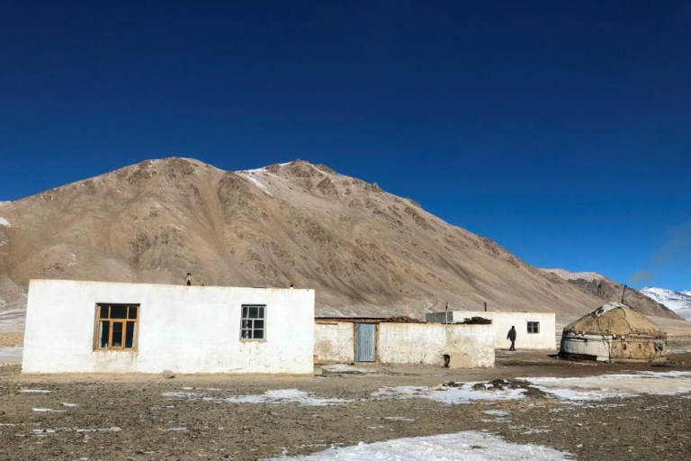 A remote mountain village in Tajikistan served as base camp for hunters