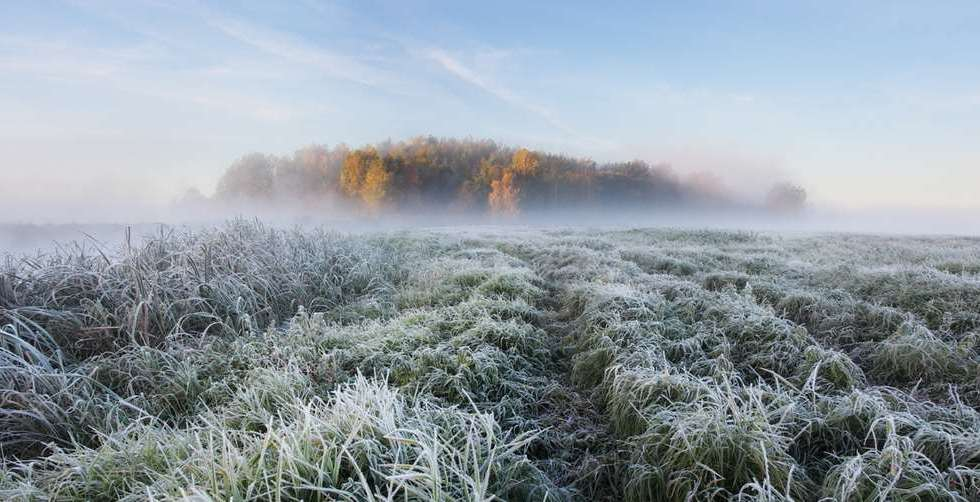 frosty morning in belarus