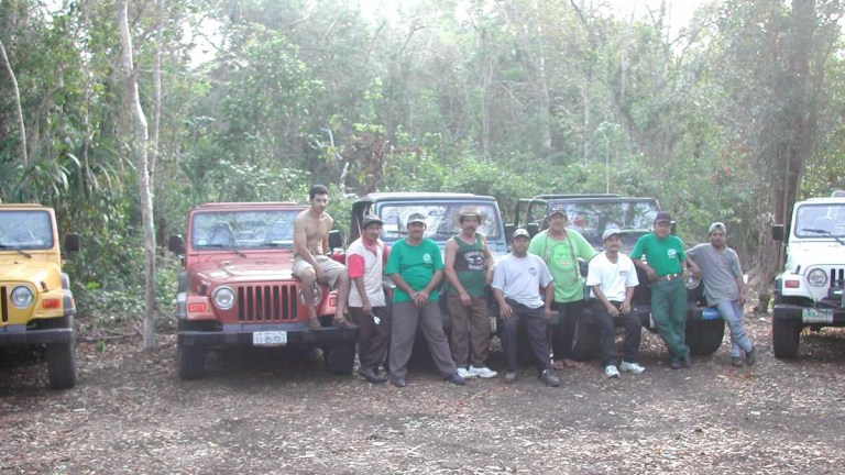 A hunting team and some Jeeps in the Yucatan