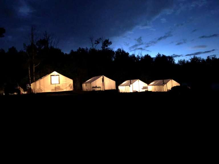 A tent camp in Colorado