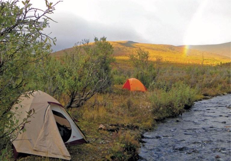 A tent camp in Alaska