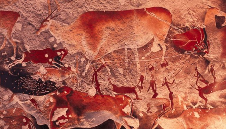 A painting of Eland hunt by the San people