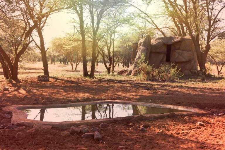 A blind near a waterhole