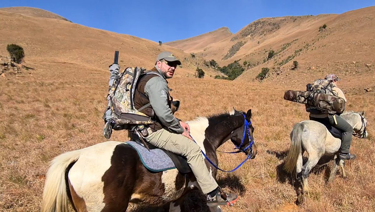 Hunters going into KwaZulu-Natal mountains on horseback