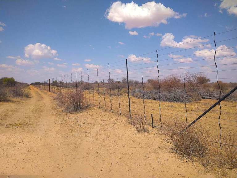 A game fence in South Africa