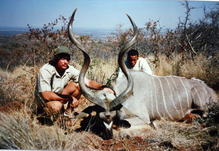 The PH and the tracker with a Kudu bull