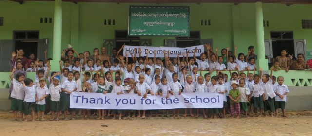 Boomerang's Philanthropy in Action: Building New Schools in Burma